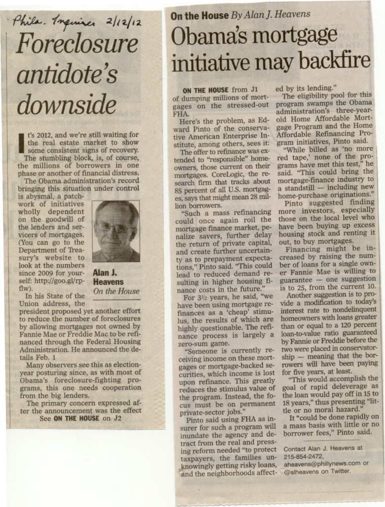 Alan J. Heavens' excellent analysis in the Philadelphia Inquirer 2/12/12